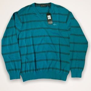 NWT Greg Norman V-neck sweater size LG